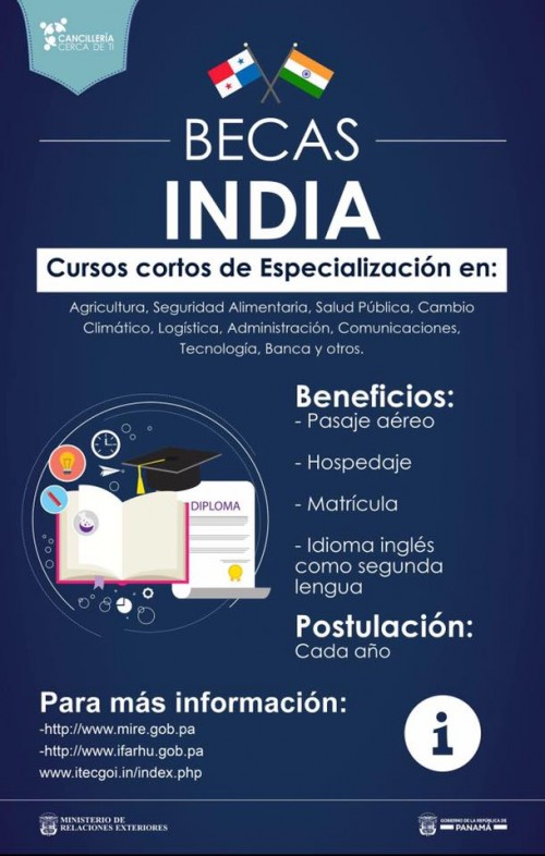 Upinforma becas para estudiar en la india for Secretaria de relaciones exteriores becas