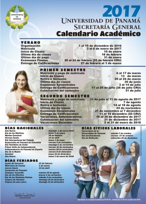 Calendario Universidad De Panama 2018.Upinforma Universidad De Panama Verano 2017